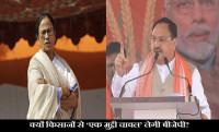 JP Nadda Mega Road Show, BJP Ek Muthi Chawal Campaign
