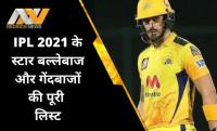 IPL 2021, Star Players