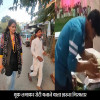 man spitting on roti, viral video
