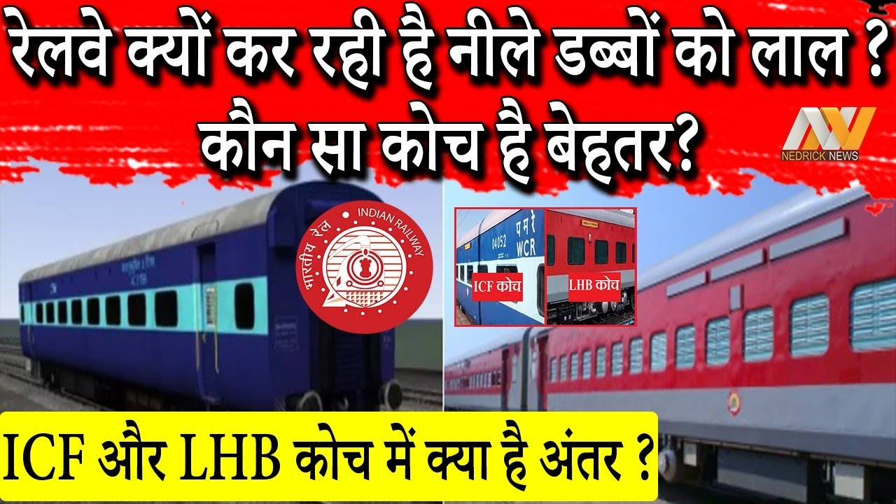 Why TRAIN COACHES are of different colors ? Difference between ICF and LHB Coaches | Must Watch